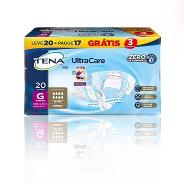 FRALDA GERIATRICA TENA SLIP ULTRACARE TAM G - KIT C/ 4 PACOTES (80 UNIDS/FARDO)