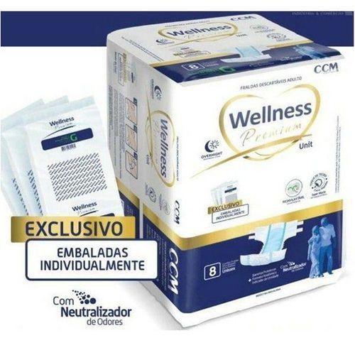 FRALDA GERIÁTRICA WELLNESS - KIT C/8 PACOTES (TAM M e G C/ 64 UNIDS/FARDO - XL C/ 56 UNIDS/FARDO)