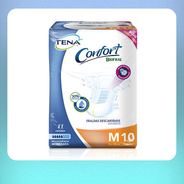 TENA CONFORT REGULAR TAM P (11 unid) TAM M (10 unid) TAM G (8 unid) TAM EG (7 unid)
