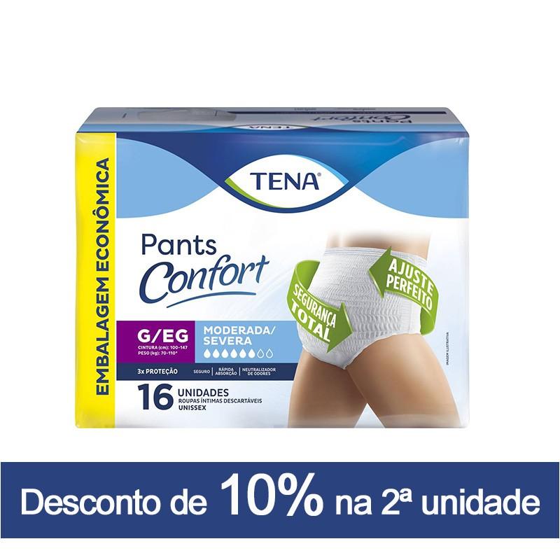 TENA PANTS CONFORT  - PACOTE C/ 16 UNIDADES
