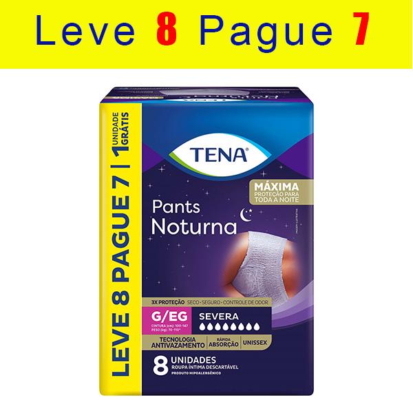 TENA PANTS NOTURNA - KIT C/ 8 PACOTES (64 UNIDS/FARDO)