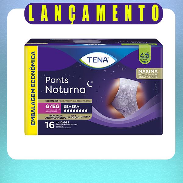 TENA PANTS NOTURNA MEGA  - PACOTE C/16 UNIDADES