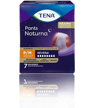 TENA PANTS NOTURNA TAM P/M - PACOTE C/ 07 UNIDADES