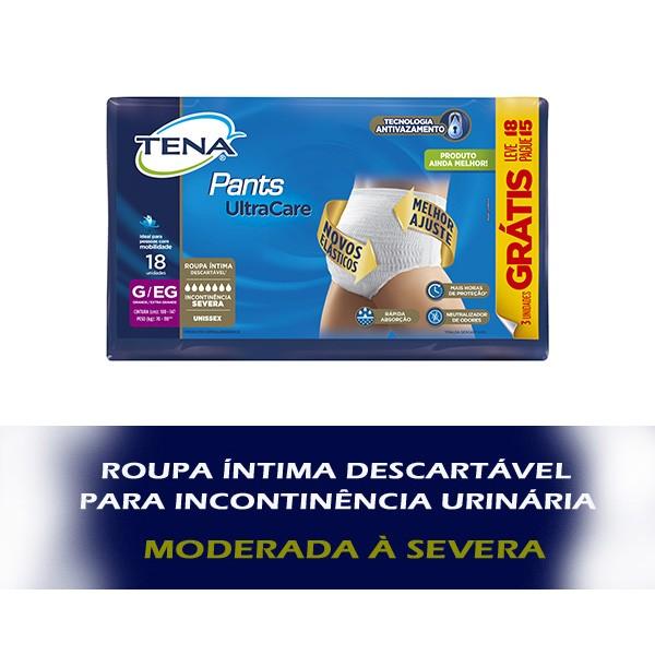 TENA PANTS ULTRA - KIT C/ 4 PACOTES (72 UNIDS/FARDO)