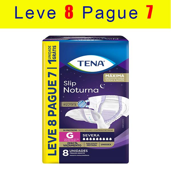 TENA SLIP NOTURNA - KIT C/ 8 PACOTES (56 UNIDS/FARDO)