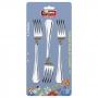 Conjunto com 3 garfos de mesa em inox