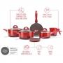 Conj. de Panelas Ceramic Life Smart Plus Vermelho - 6 peças
