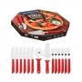 Conj. de Talheres para Pizza 14 pçs Inox Tramontina Vermelho