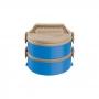 Conjunto com 2 Marmitas Termicas Treviso Azul