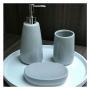 Conjunto para Banheiro Cinza Mimo Style - 3 Peças