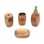 Conjunto Para Banheiro Royal Lux Cooper Cerâmica Rose - 4 Peças