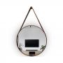 Espelho Adnet Redondo Marrom com Alça - 60cm