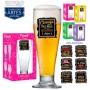 Taça Tulipa Linha Funny 300ml c/ CX Presente - Cerveja Faz Mal... - Verde S