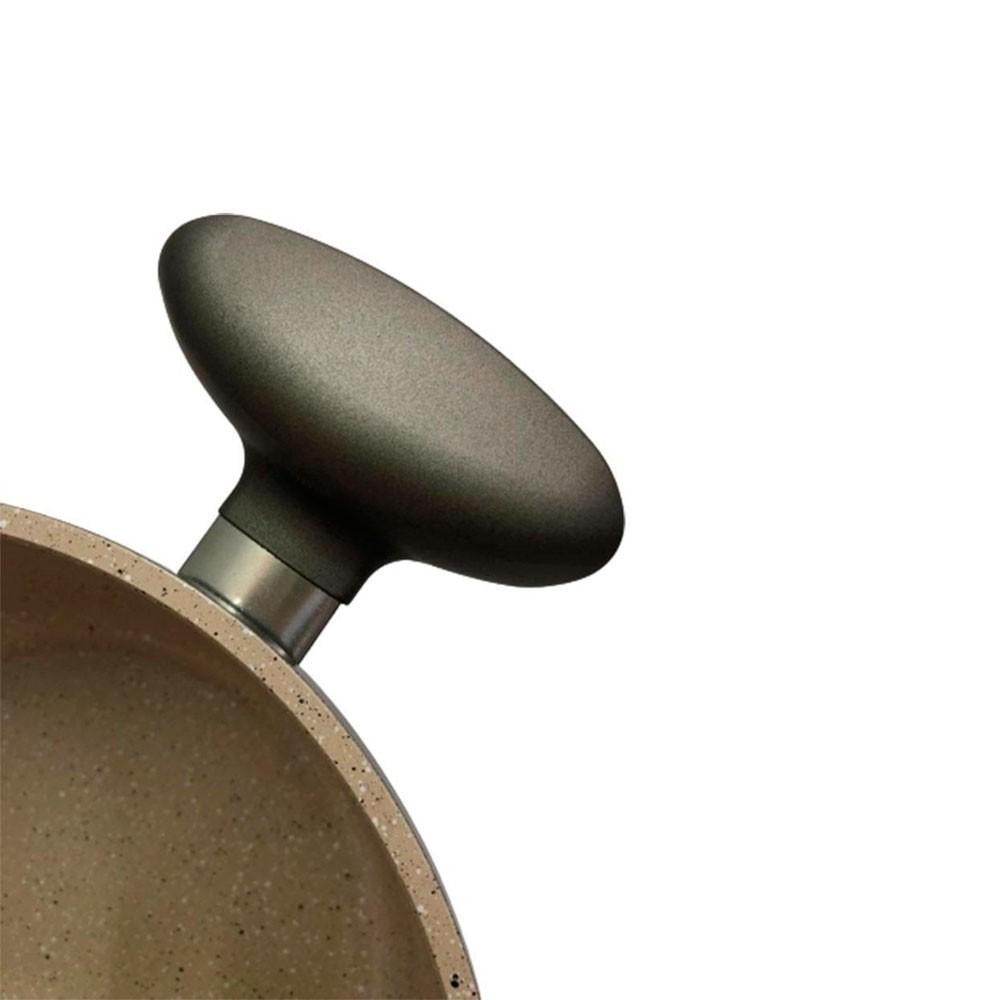 Caçarola C/ revestimento em cerâmica 22cm C/ tampa de vidro
