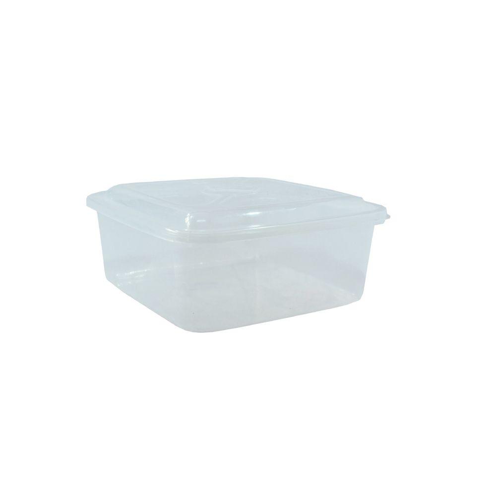 Caixa Organizadora Quadrada Transparente 3,5L