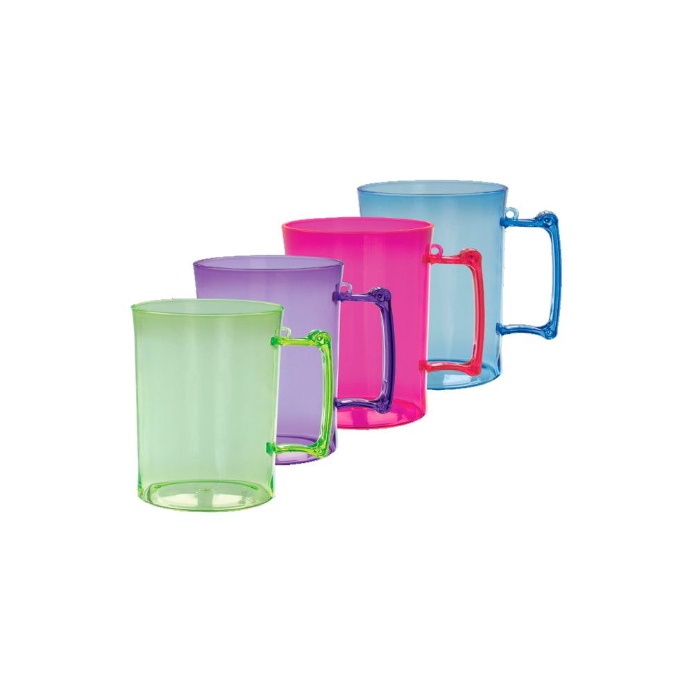 Caneca Chopp Acrilico Colors 510Ml