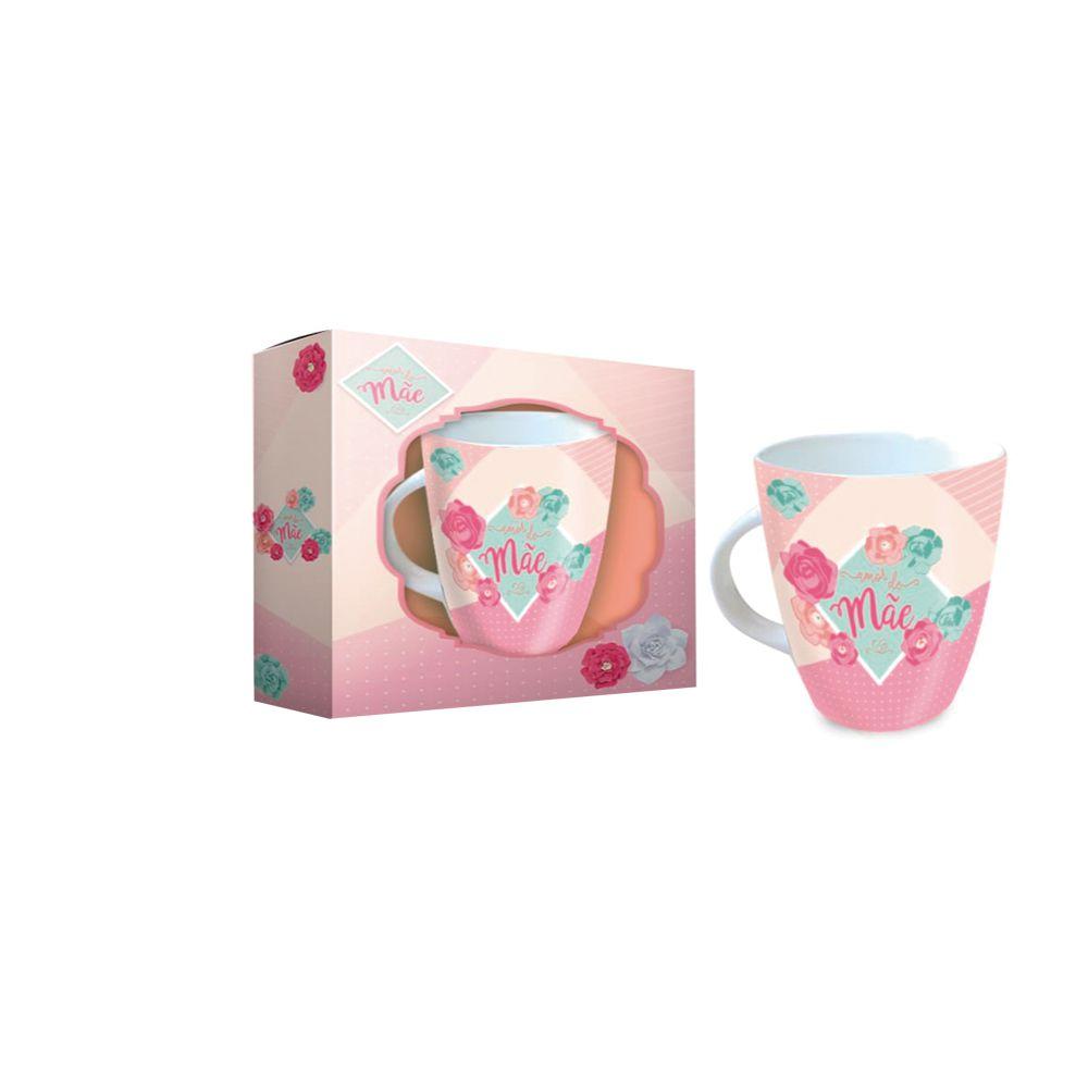 Caneca Porcelana Amor De Mãe - Cx Presente