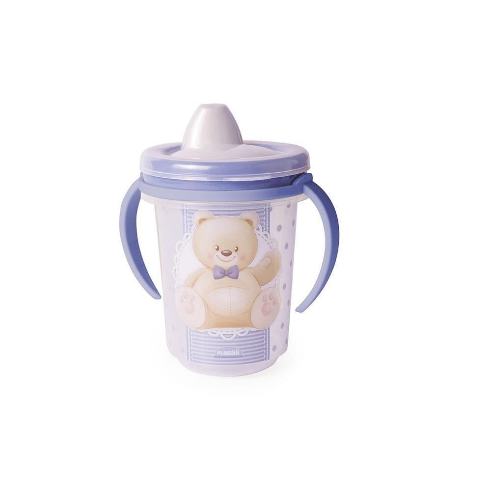 Caneca com Bico Trio Urso Azul - 330ml