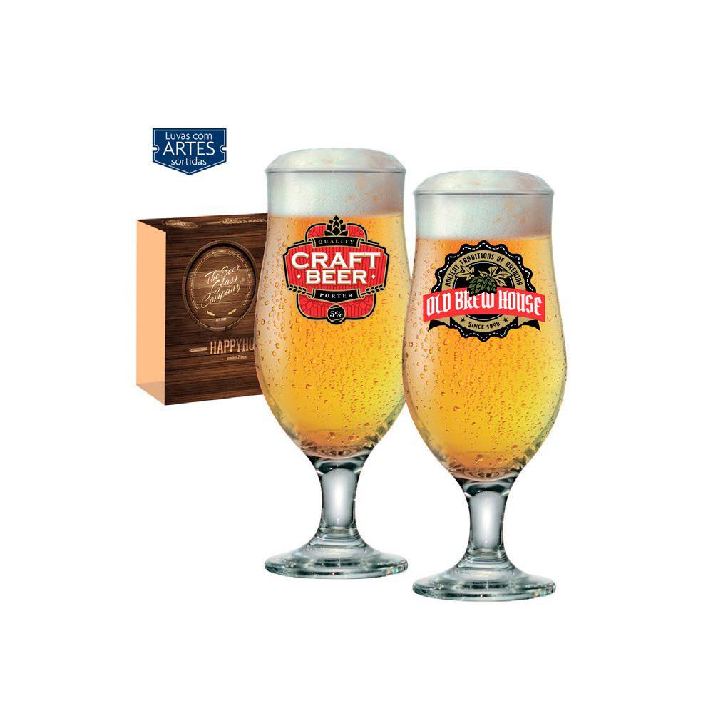 Conjunto c/2 Taças Royal Beer 330Ml C/ Cx Presente