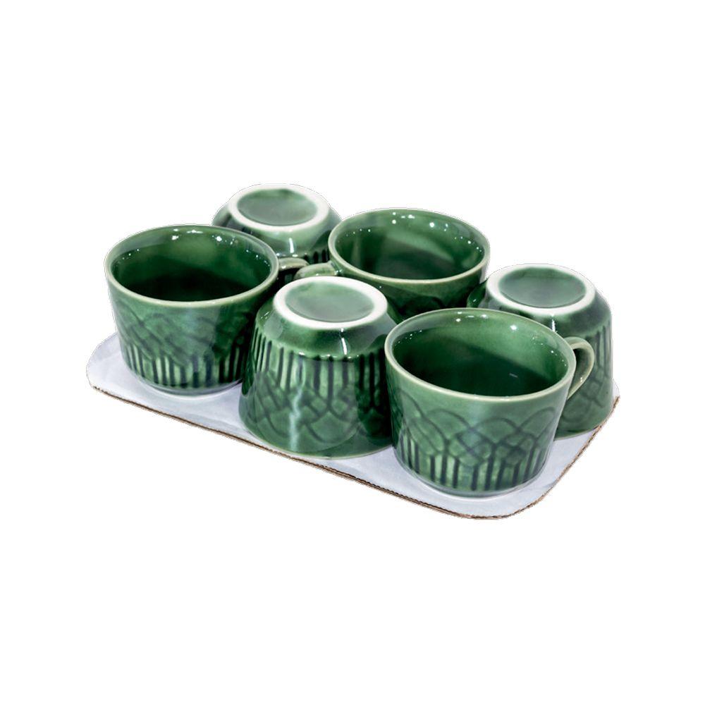 Conjunto c/6 Xicaras Cha Verde 90M