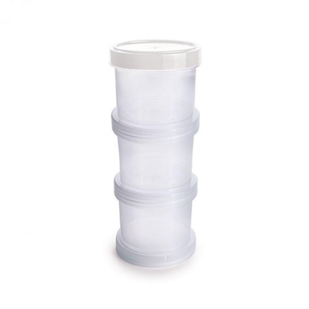 Conjunto com 3 Potes Organizadores Rosca - 150ml
