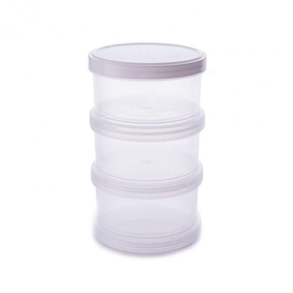 Conjunto com 3 Potes Organizadores Rosca - 220ml