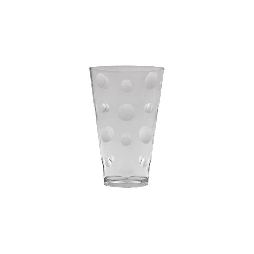 Copo Acrílico Bolhas Transparente 450Ml - Caixa c/ 12 unid.