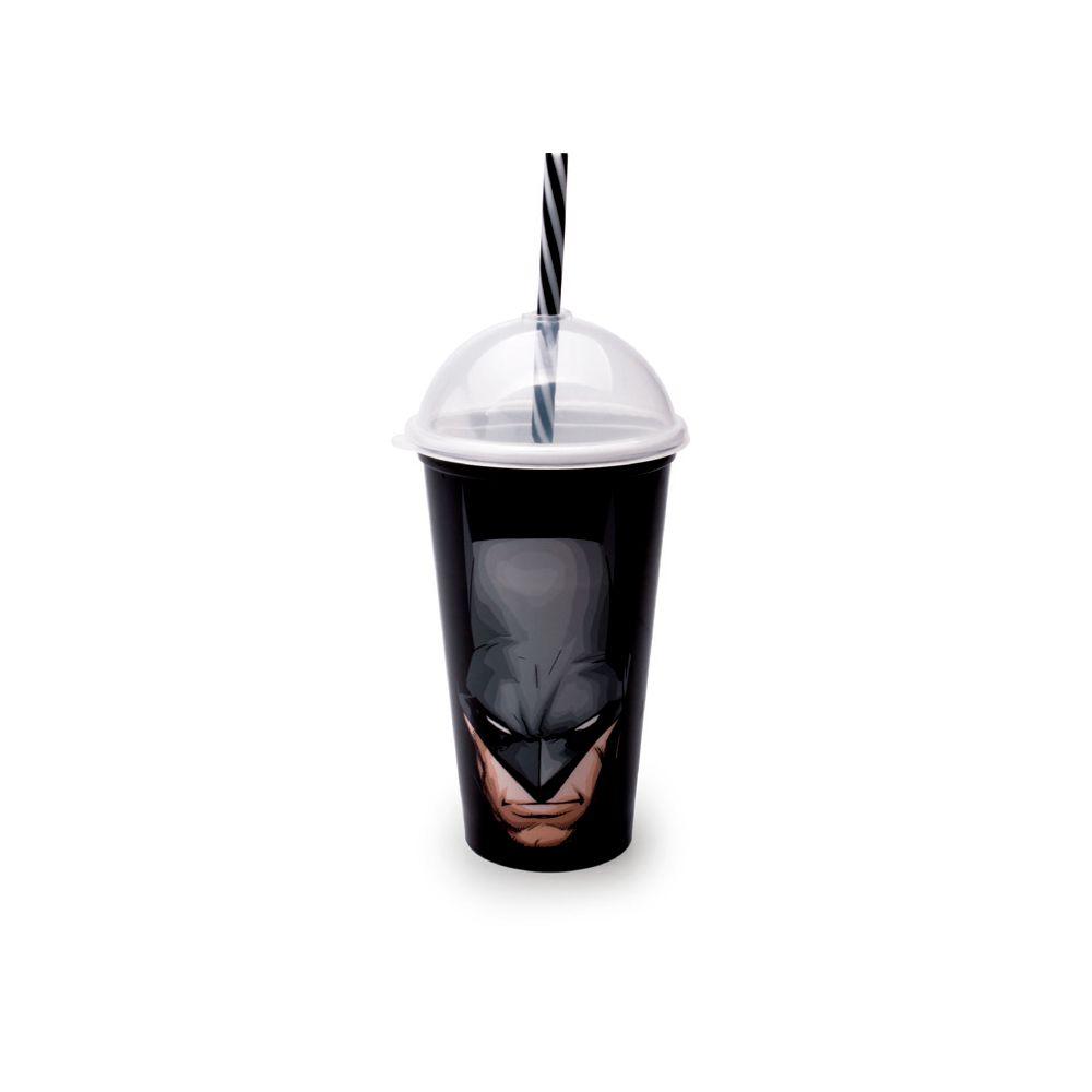 Copo Com Canudo Shake Batman 500Ml