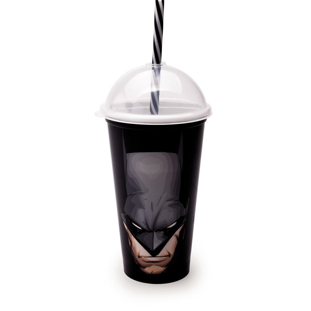 Copo Shake com Canudo Batman - 500ml