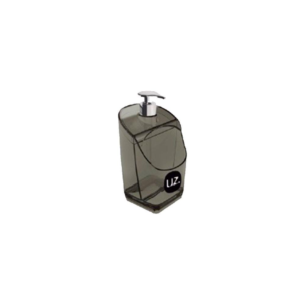 Dispenser/Porta Detergente Preto Translúcido 18cm