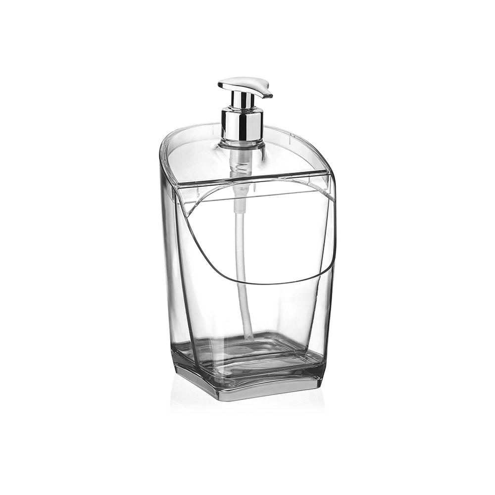 Dispenser/Porta Detergente Transparente - 18cm