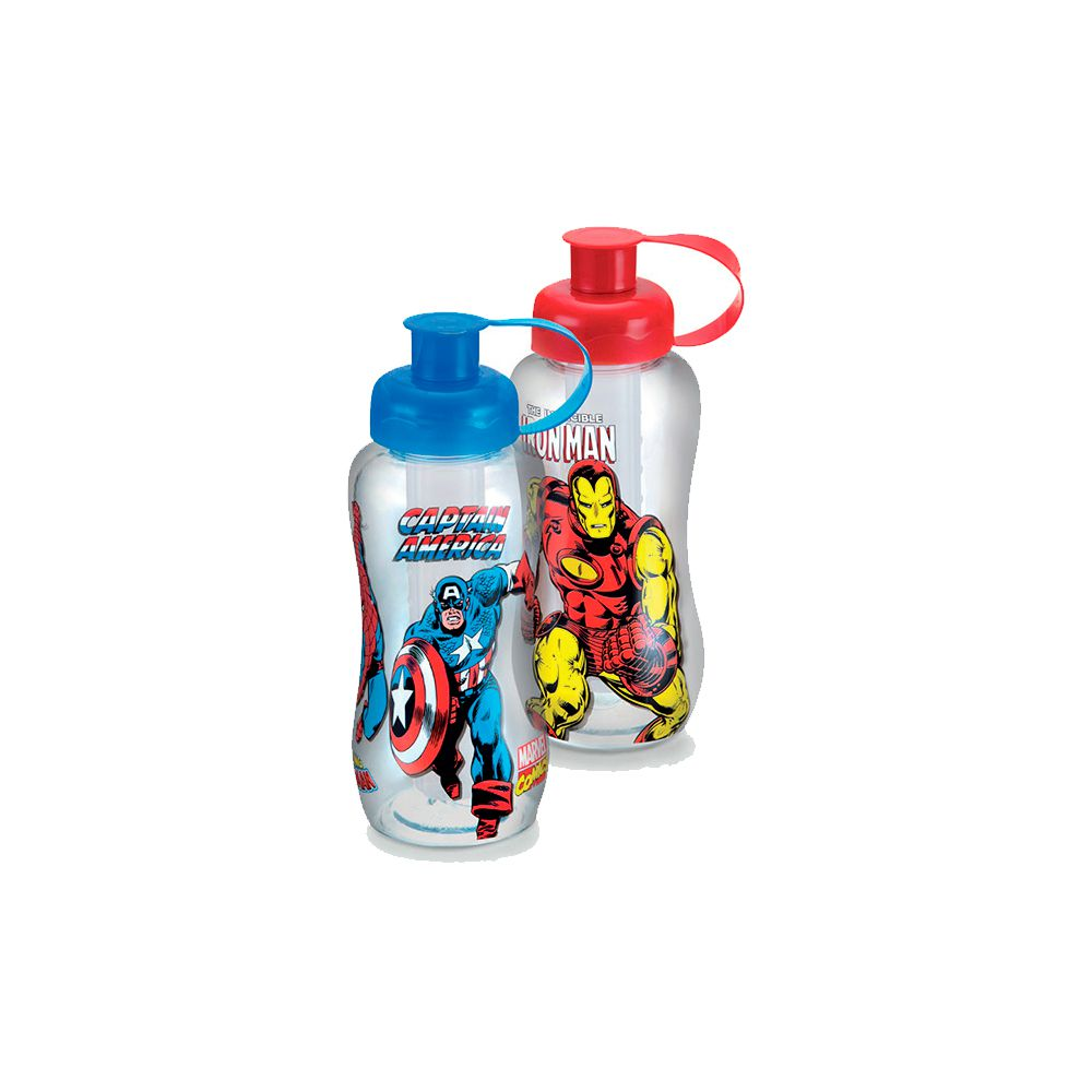 Garrafa Marvel Comics com Tubo de Gelo - 550ml