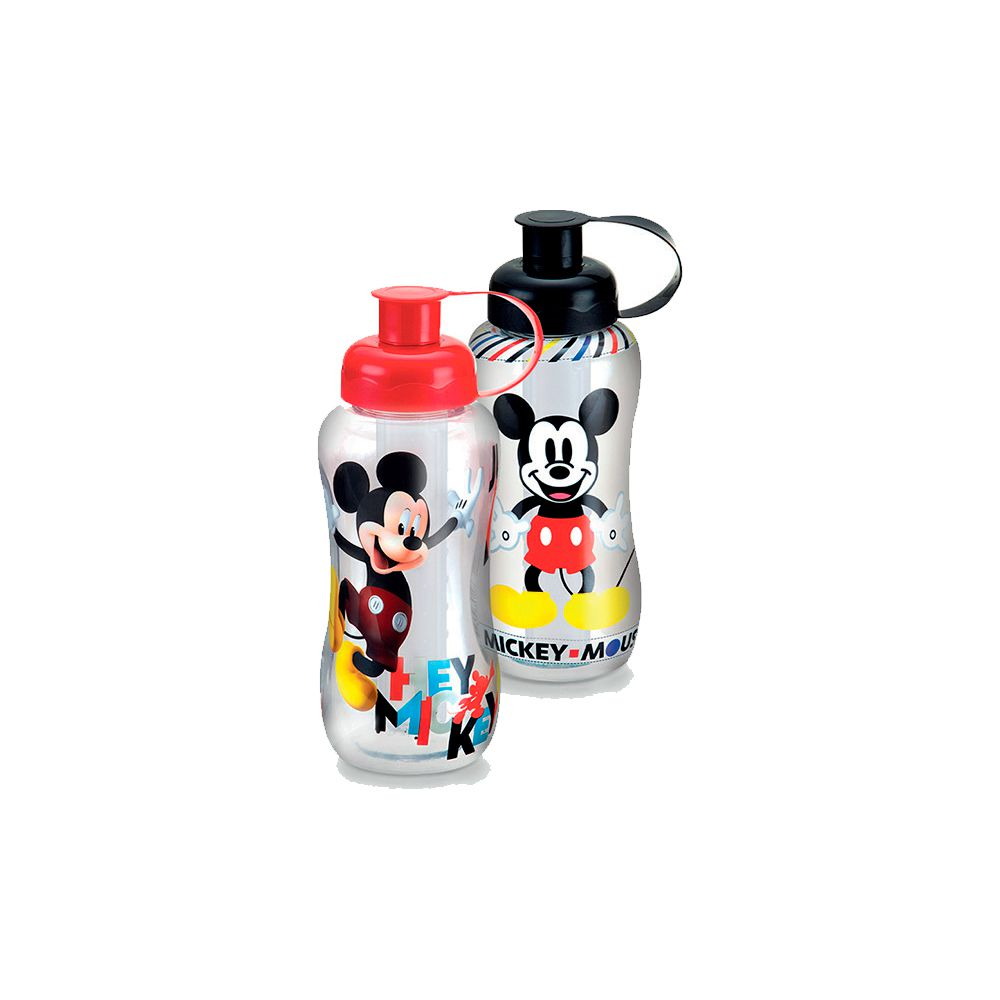 Garrafa Mickey Mouse Com Tubo de Gelo - 550ml
