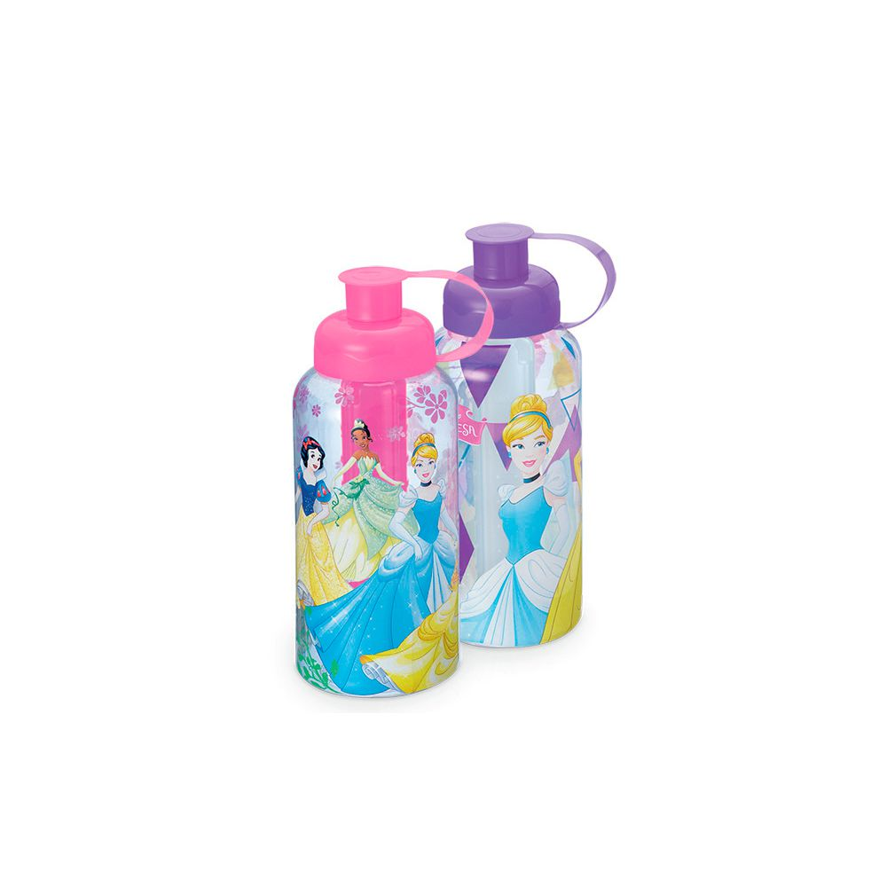 Garrafa Princesas com Tubo de Gelo - 550ml