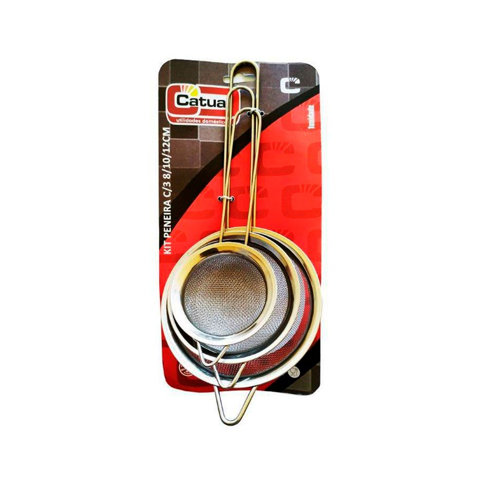 Kit Coador 3 Peças - 8cm/10cm/12cm