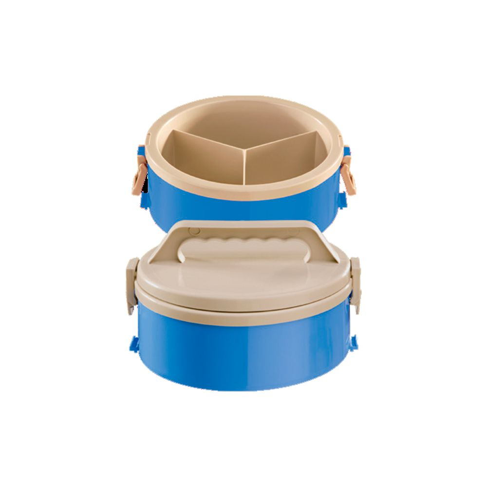 Marmita Térmica Com 3 Divisoes Azul Treviso