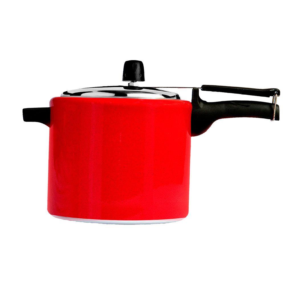 Panela de Pressão Mr. Cook Expoxi Vermelha - 4,5 Litros