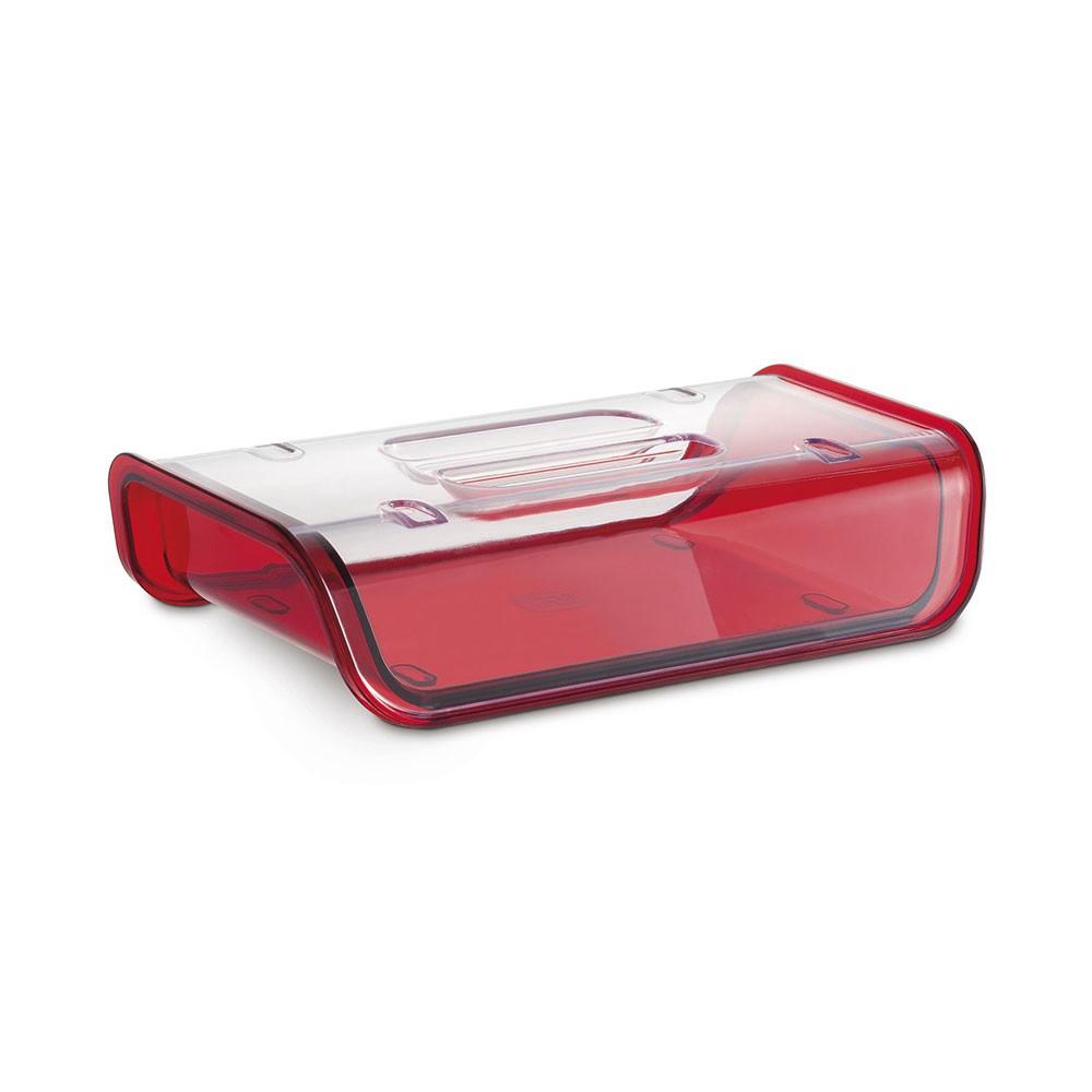 Porta Frios Vermelho Com Tampa Acrílica - 22,2cm