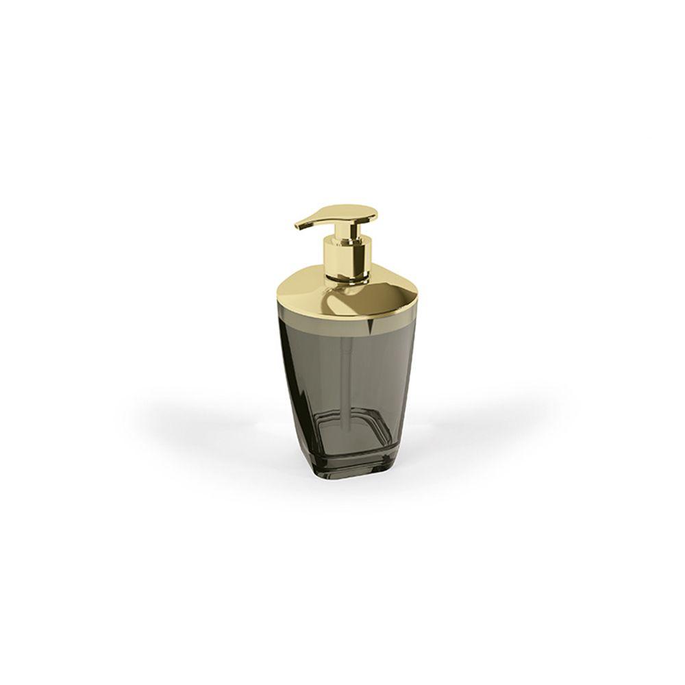 Porta Sab. Liquido Premium Preto/Dourado 15,8Cm