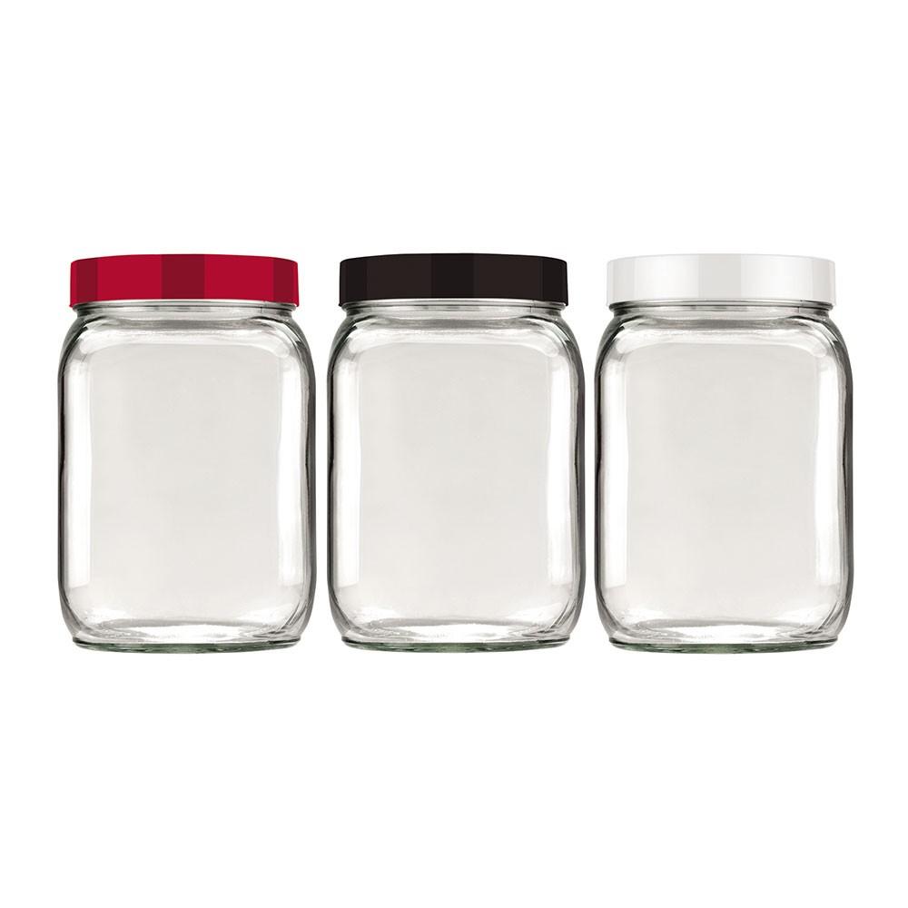 Pote de Vidro Quadrado - 1,3 Litros