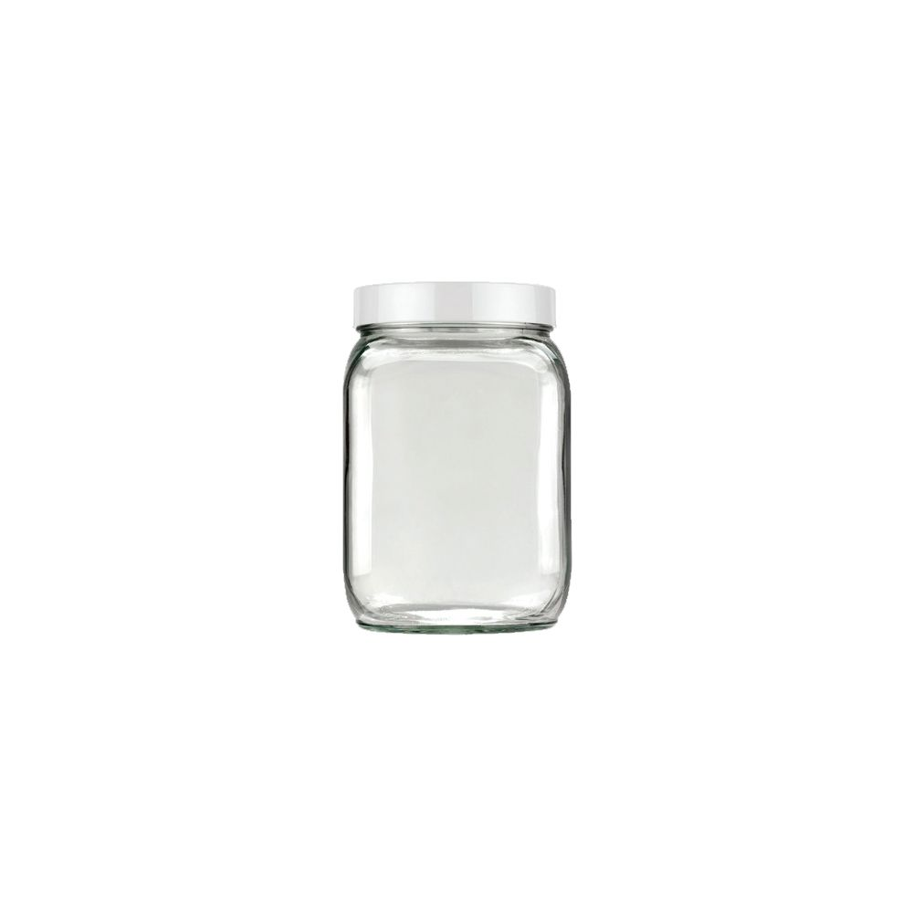 Pote de Vidro Quadrado 1,3Lts