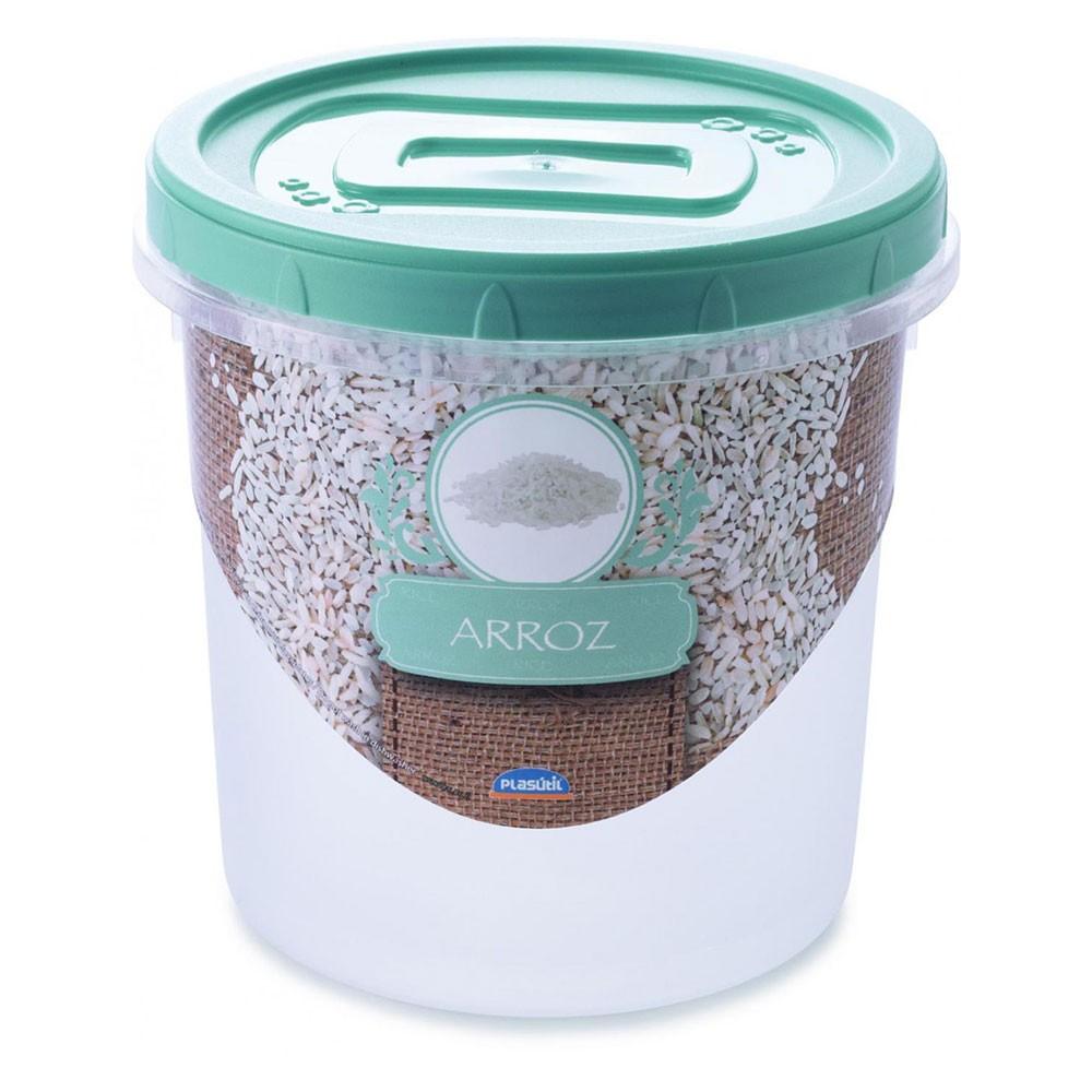 Pote Mantimento Rosca Decora Arroz - 1,8 Litros