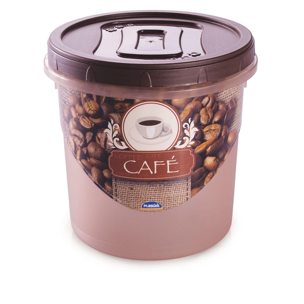 Pote Mantimento Rosca Decora Café - 1,8 Litros