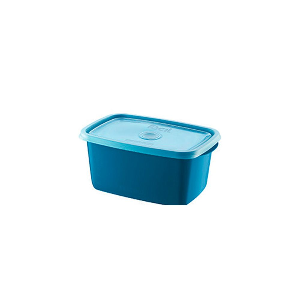 Pote Retangular Alto Facil Azul 1,4Lts