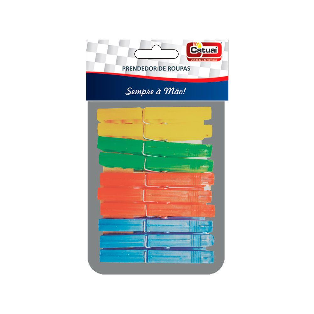 Prendedor de Roupa De Plástico - 10 Peças