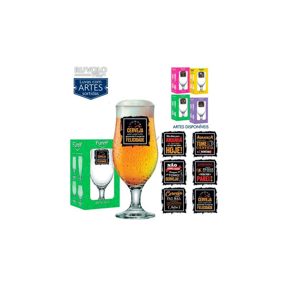 Taca Royal Beer Linha Funny 330Ml C/ Cx Presente