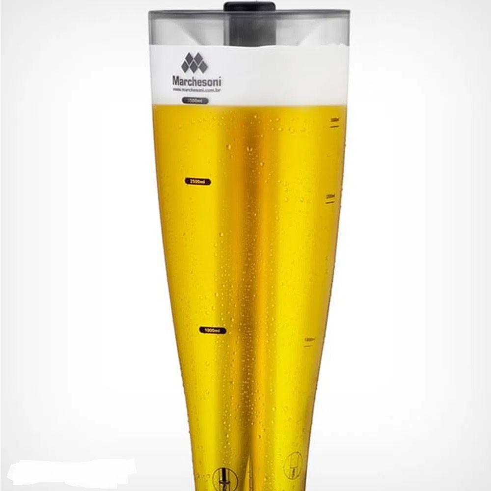 Torre de Chopp e Cerveja Marchesoni MarcBeer - 2,5 Litros