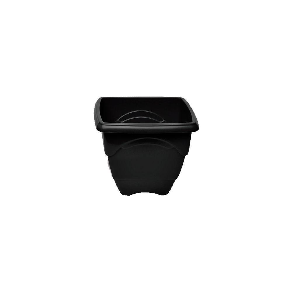 Vaso Quadrado Preto - 1 Litro