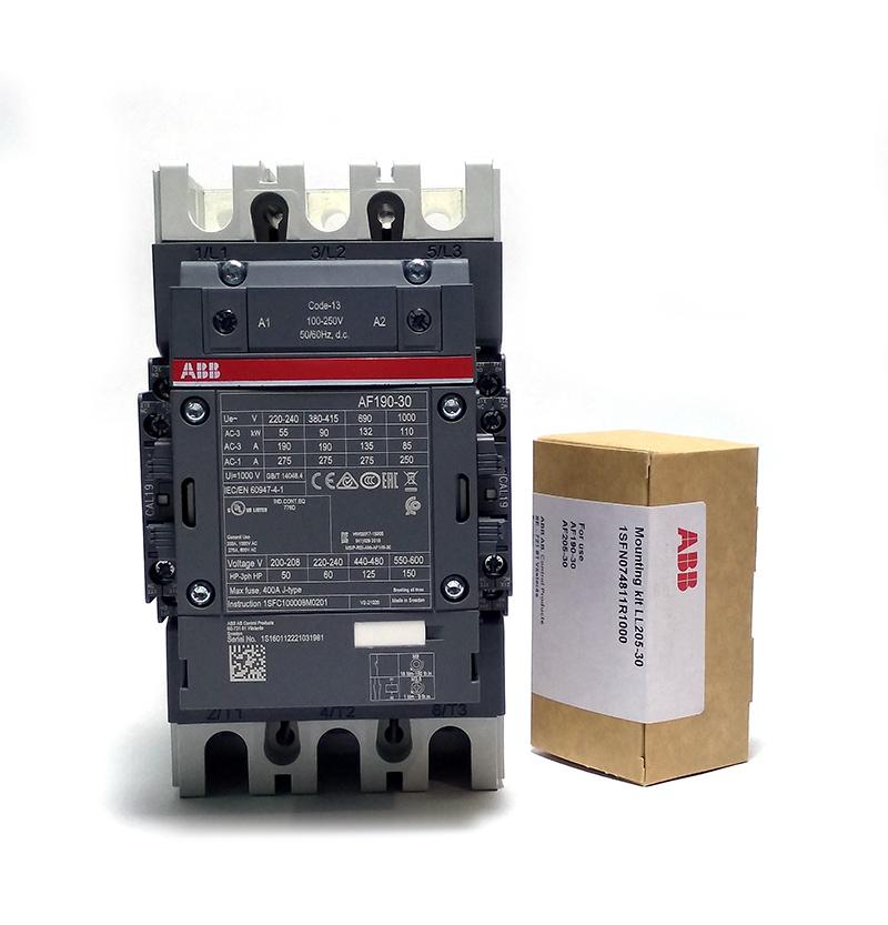 contator tripolar abb af190-30-22-13 275a ac1 - pn 1sfl487002r1322br