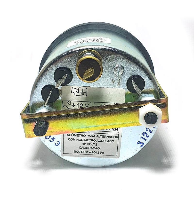 tacômetro com horimetro 12V turotest